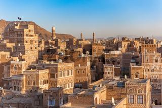 Panorama of Sanaa, capital of Yemen