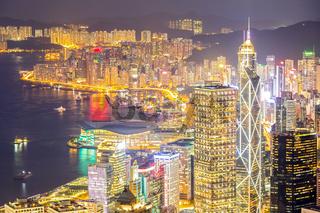 Hong Kong Skyline aerial