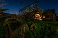 Night at an Abandoned Farm in California