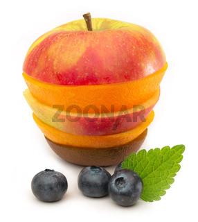 Gesunde Ernährung - Obst-Turm