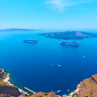View of Aegean Sea from Santorini island