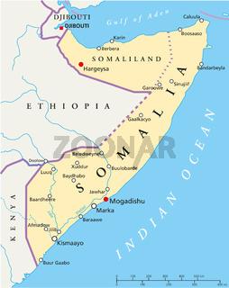 Somalia Landkarte