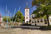 Brunnen, Nikolaikirche, Rathaus, Siegen, NRW