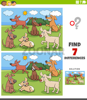 differences task with dog characters group