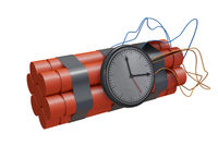 Dynamite sticks with dangerous explosives - 3d rendering