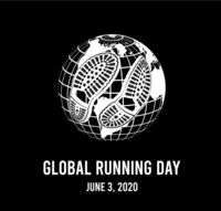Global running day, 2020. Annual wellness event. Vector illustration