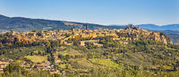 View of the city of Orvieto in the province of Terni in Umbria Italy