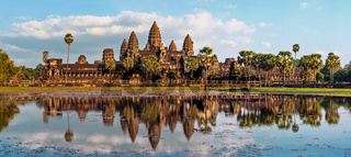 Panorama view of Angkor Wat. Siem Reap, Cambodia