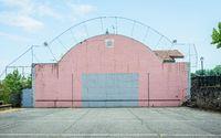 Espelette Basque pelota wall, in France