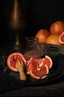 making freshly squeezed grapefruit  juice