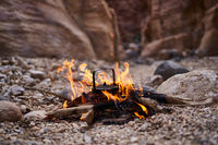 Teekessel im Feuer