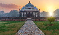 Tomb of Isa Khan in New Delhi, India