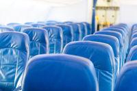 Empty plane interior with no people