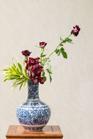 beautiful oriental style flower arrangement