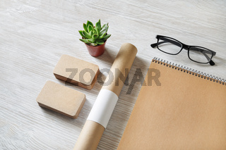 Blank kraft stationery set