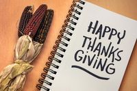 Happy Thanksgiving handwriting -greeting card