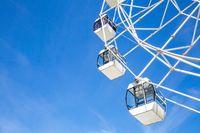 Big white ferris wheel in the park