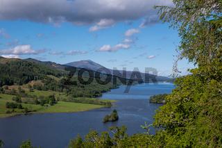 View of Scottish Loch Tummel Pitlochry