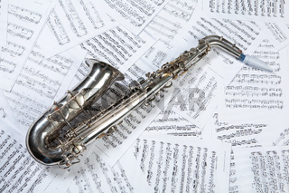 Saxophone And Notes