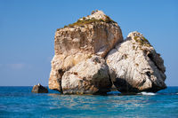 A sea stack on the Aphrodite's (Petra of Romiou) beach. Kouklia. Cyprus