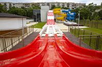Water slides red