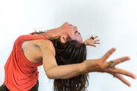 Vibrant woman enjoys gym session