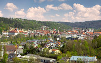Aerial view over the city of Eichstaett