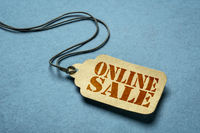 online sale on a price tag