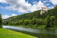 Prunn caslte in the Altmuehltal valley