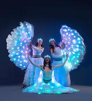Showgirls in fancy dresses view