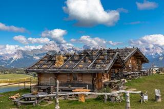 Blick ueber die Seiser Alm, Alpe di Siusi, Suedtirol