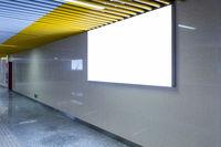 blank light box on underpass