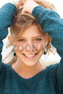Portrait of smiling beautiful girl