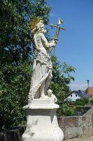 Brückenfigur auf der Hornungsbrücke in Fulda