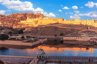 Amber Fort in Jaipur, India, view from the Wall Of Amer