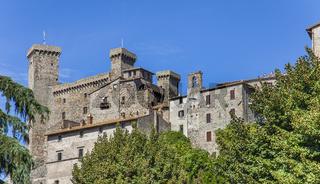The Rocca Monaldeschi della Cervara castle in Bolsena on Lake Bolsena in the Viterbo region of Lazio