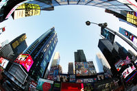 Times Square, featured with Broadway Theaters and huge number of LED signs, is a symbol of New York City and the United States