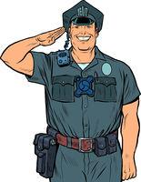 A good cop salutes. Police work