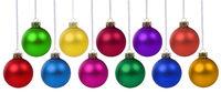 Weihnachten Weihnachtskugeln Weihnachtszeit Advent Kugeln Dekoration hängen Freisteller isoliert freigestellt