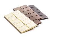Dark, milk and white chocolate bars.