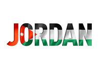 jordanian flag text font