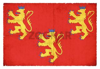 Grunge flag Dordogne (France)