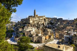 Blick auf Matera in Italien