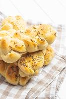 Tasty braided buns