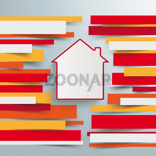 Infographic Brochure Paper Lines House PiAd