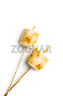 Grilled sweet marshmallows.