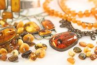 Various amber jewelry