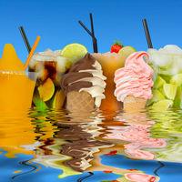 Eis & Cocktails Erfrischung im Sommer