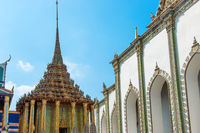 View of complex of Temple of Emerald Buddha in Bangkok
