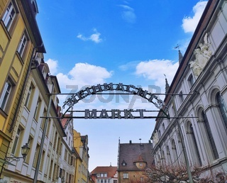 Sign of Christmas Market in Ansbach